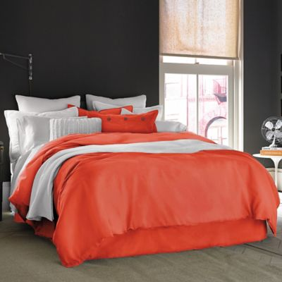 Red Orange Bed Skirt