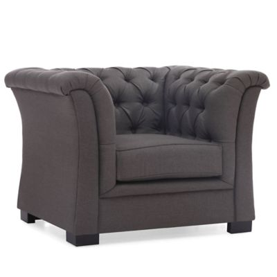 Zuo® Modern Nob Hill Arm Chair in Charcoal Grey