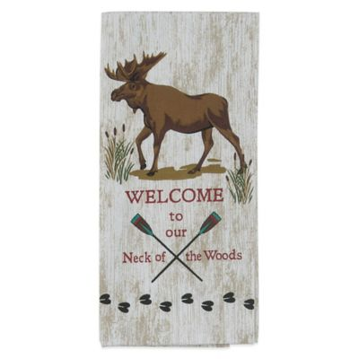 Welcome to Our Neck of the Woods Tea Towel
