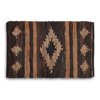 Tamale Leather Chindi Rug