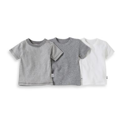 Burt's Bees Baby® Size 4T 3-Pack Organic Cotton T-Shirts in Grey Stripe