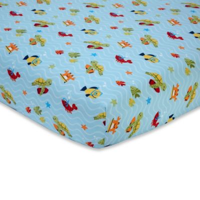 Carter's® Laguna Monkey Fitted Crib Sheet