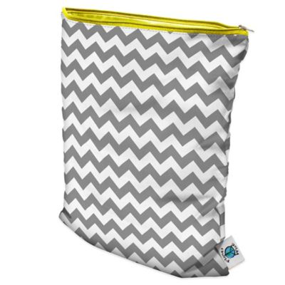 Large Wet Bag in Grey Chevron