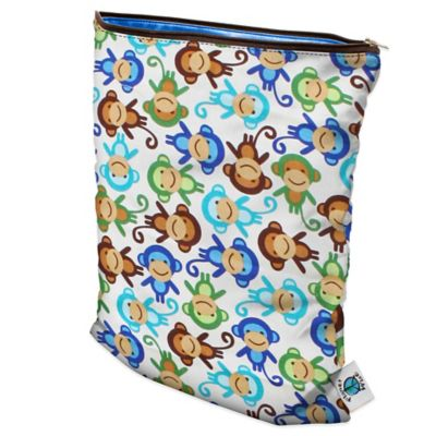 Planet Wise Large Wet Bag in Monkey Fun