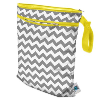 Wet/Dry Bag in Grey Chevron