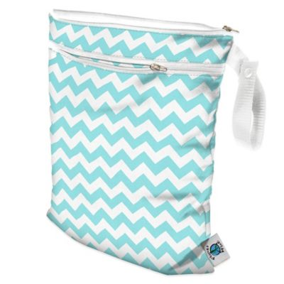 Wet/Dry Bag in Teal Chevron