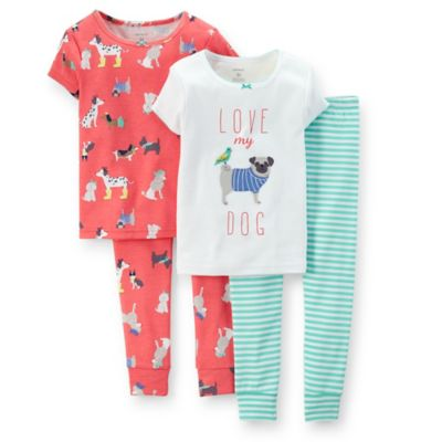 "Carter's® Size 18M 4-Piece ""Love My Dog"" PJ Set"