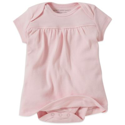 Burt's Bees Baby® Size 0-3M Organic Cotton Short Sleeve Dress in Pink