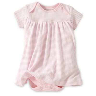 Burt's Bees Baby® Size 0-3M Organic Cotton Short Sleeve Dress in Pink Stripe