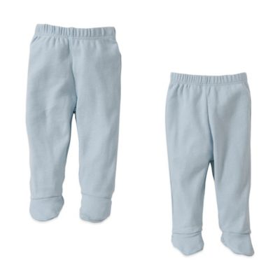 Burt's Bees Baby™ Preemie 2-Pack Organic Cotton Footed Pants in Sky
