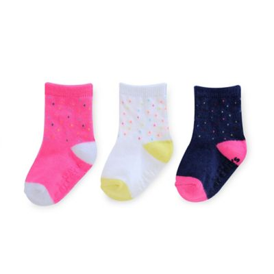 Carter's® 2-4T 3-Pack Multi Pin Dot Computer Socks