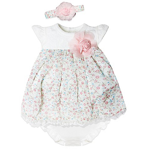 Buy Wendy Bellissimo™ Size 9M 3 Piece Floral Dress Diaper