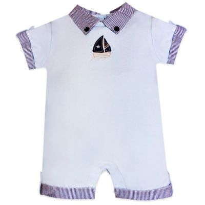 Wendy Bellissimo™ Size 6M Sailboat Romper in Light Blue