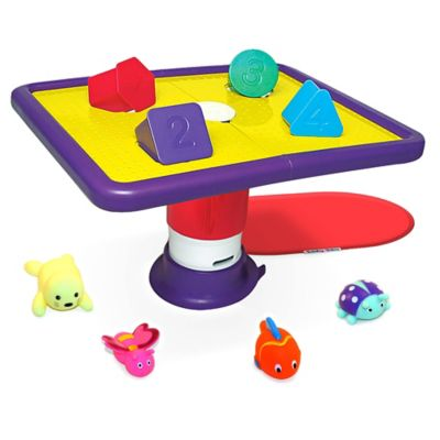 Tubby Table Bath Toy for Toddlers with Zoo-Born Animals and Nonslip Mat