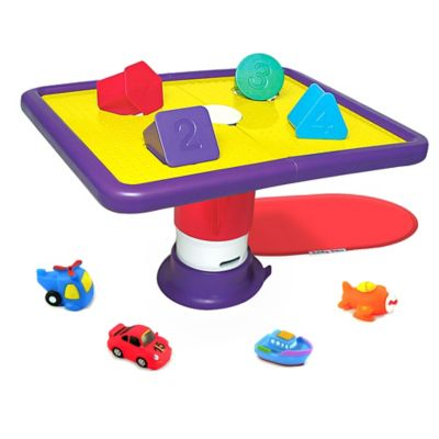 Tubby Table Bath Toy for Toddlers with Vroom-Vroom Vehicles and Nonslip Mat