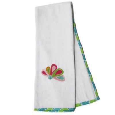 Pam Grace Creations Aqua Peacock Bath Towel (Set of 2)
