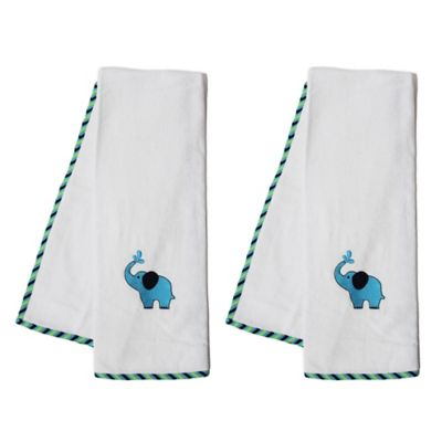 Pam Grace Creations Zig Zag Elephant Bath Towel (Set of 2)