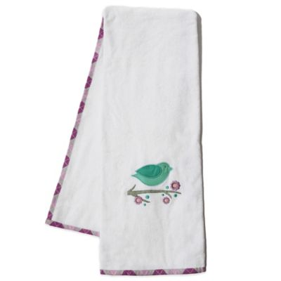 Pam Grace Creations Lavender Lovebirds Bath Towel (Set of 2)