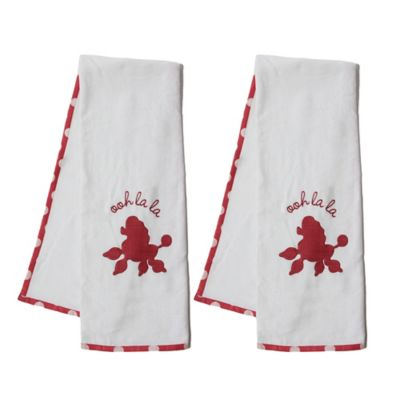 Pam Grace Creations Posh in Paris Bath Towel (Set of 2)