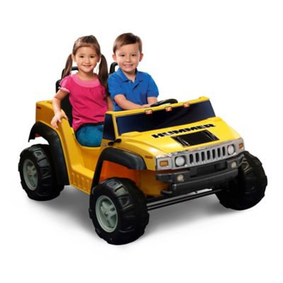 Kid Motorz Hummer H2 Two-Seater 12-Volt Ride-On in Yellow