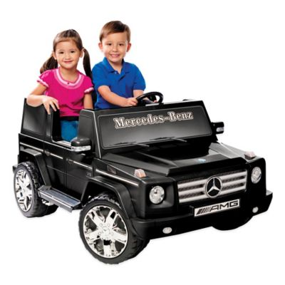 Kid Motorz Mercedes Benz G55 AMG 2-Seater 12-Volt Ride-On in Black