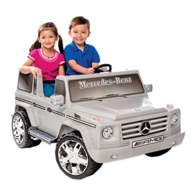 Kid Motorz Mercedes Benz G55 AMG 2-Seater 12-Volt Ride-On in Silver
