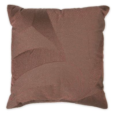Sophie Metallic Square Throw Pillow