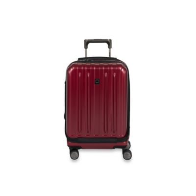 DELSEY Helium Titanium 19-Inch Carry-On Spinner in Cherry