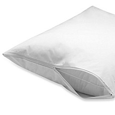 Zippered 100% Cotton Pillow Protector (Set of 2)