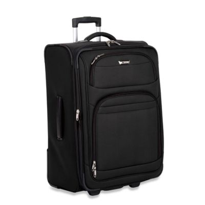 DELSEY Helium Quantum 25-Inch Expandable Upright Trolley in Black