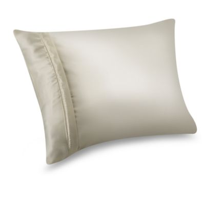 Satin Standard Pillow Protector in Ivory