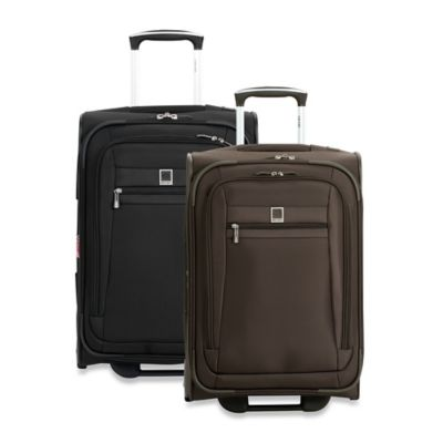 DELSEY Helium Hyperlite 20-1/2-Inch Lightweight Rolling Carry On Trolley in Black