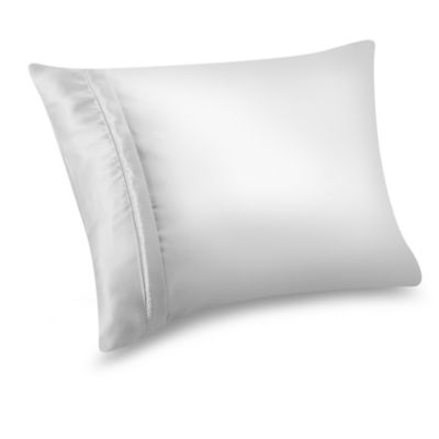 Satin Standard Pillow Protector in White