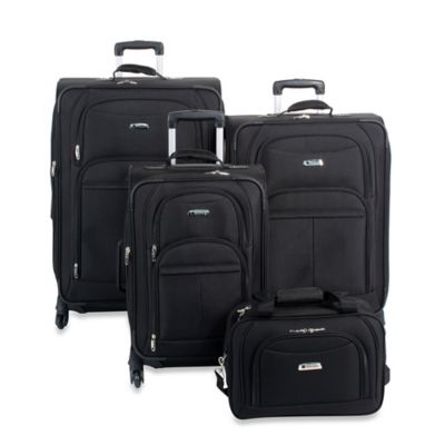DELSEY Illusion 4-Piece Luggage Set in Black