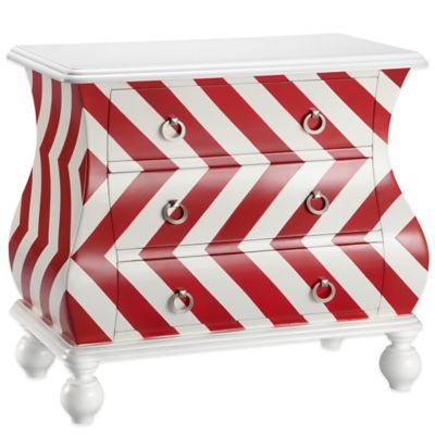 Madison Park Intelligent Design Chevron Bombe Chest in Green