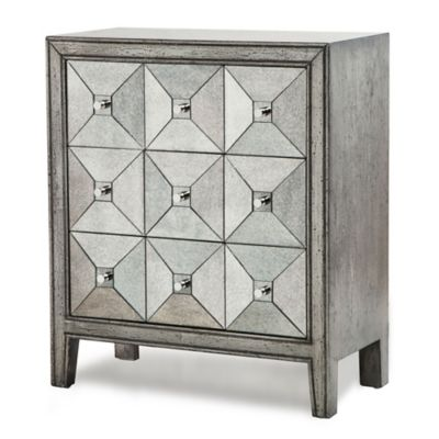 Madison Park Antiqued Mirror Apothecary Chest