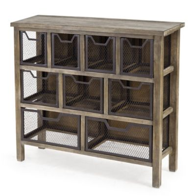 Madison Park Cirque Metal Bin Console Table