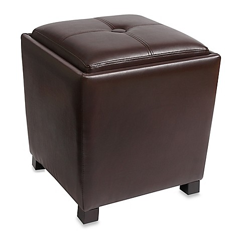 Bonded Leather Tapered Ottoman Bed Bath Beyond