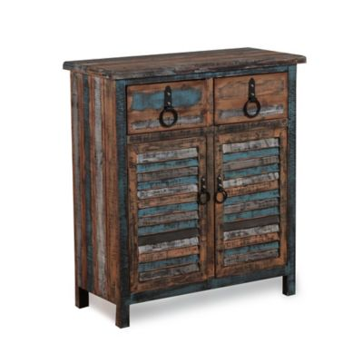 Powell Calypso 2-Drawer/2-Door Console
