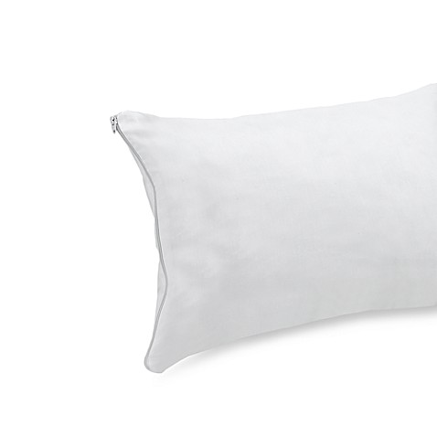 Travel Pillow Cover in White
