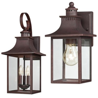 Quoizel Chancellor Outdoor 11.5-Inch Wall Lantern in Copper Bronze
