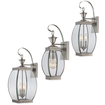 Quoizel Oasis Outdoor Large 3-Light Wall Lantern in Pewter
