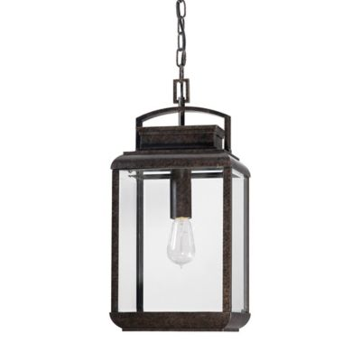 Quoizel Byron Ceiling Mount Outdoor Hanging Lantern in Imperial Bronze