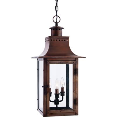 Quoizel Chalmers Outdoor Large Wall Lantern in Aged Copper