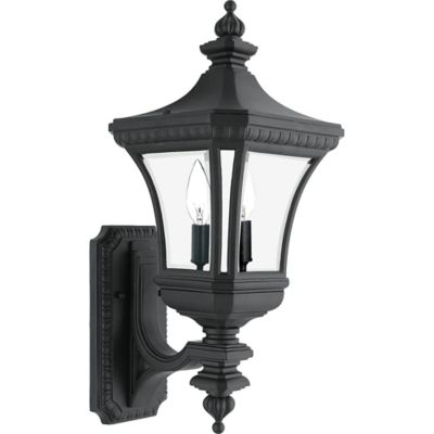 Quoizel Devon Outdoor Small Uplight Wall Lantern in Mystic Black