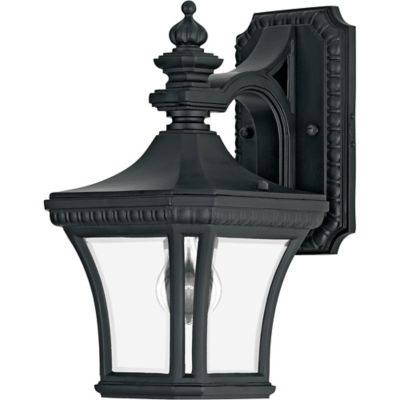 Quoizel Devon Outdoor Small Wall Lantern in Mystic Black