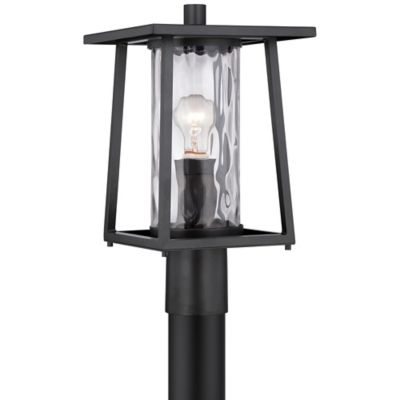 Quoizel Lodge Outdoor Post Lantern in Mystic Black