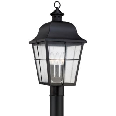 Quoizel Millhouse Outdoor Large Post Lantern in Mystic Black