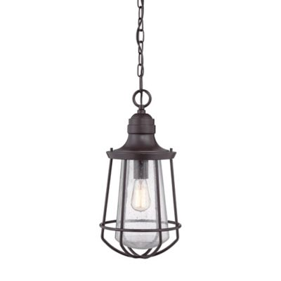 Quoizel Marine Ceiling Mount Outdoor Hanging Lantern in Western Bronze