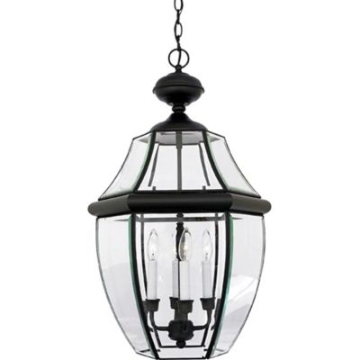 Quoizel Newbury Ceiling Mount Outdoor Extra-Large Hanging Lantern in Mystic Black